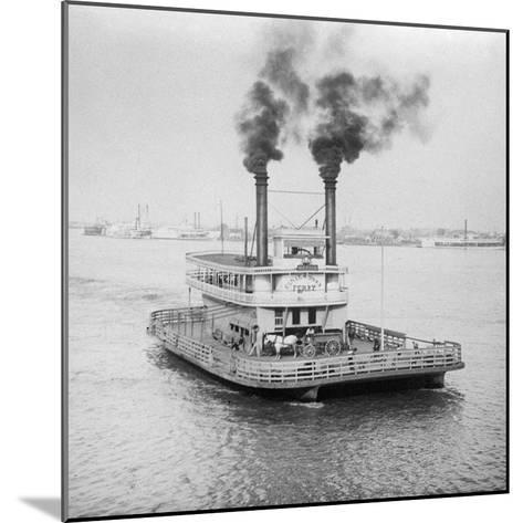 Ferry Boat on the Mississippi River--Mounted Photographic Print