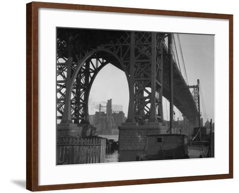 Williamsburg Bridge Spanning East River-Philip Gendreau-Framed Art Print