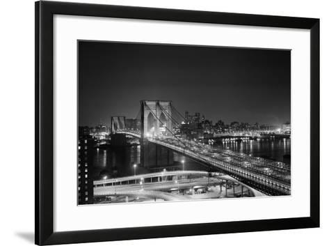 Brooklyn Bridge at Night-Philip Gendreau-Framed Art Print