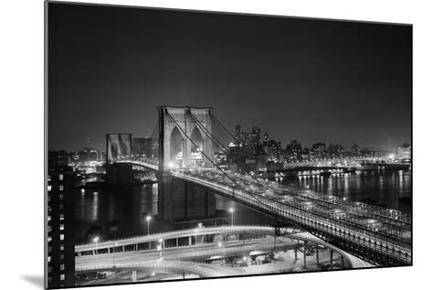 Brooklyn Bridge at Night-Philip Gendreau-Mounted Photographic Print