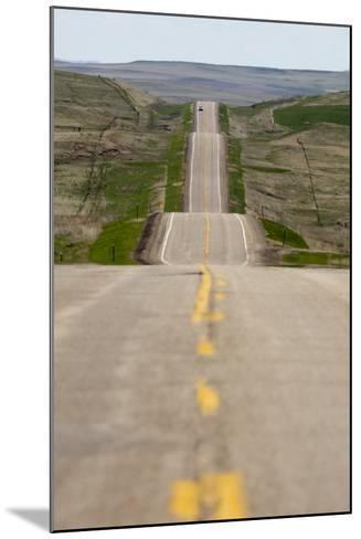 U.S. Highway 85 Through Rolling Prairie in South Dakota-Paul Souders-Mounted Photographic Print