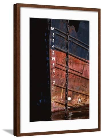 Tugboat Bow and Lowered Anchor Chain-Paul Souders-Framed Art Print