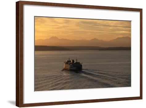 Ferry Boat in Elliot Bay-Paul Souders-Framed Art Print