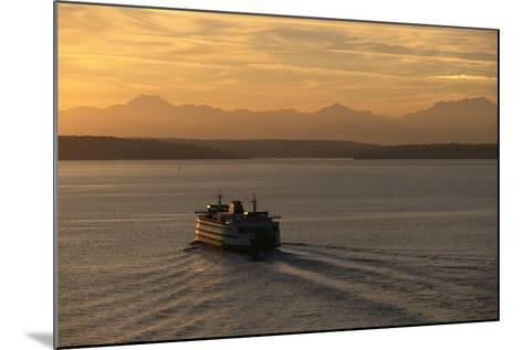 Ferry Boat in Elliot Bay-Paul Souders-Mounted Photographic Print