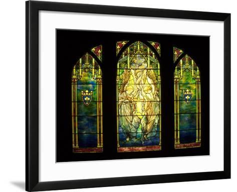 Tiffany Stained Glass Window--Framed Art Print
