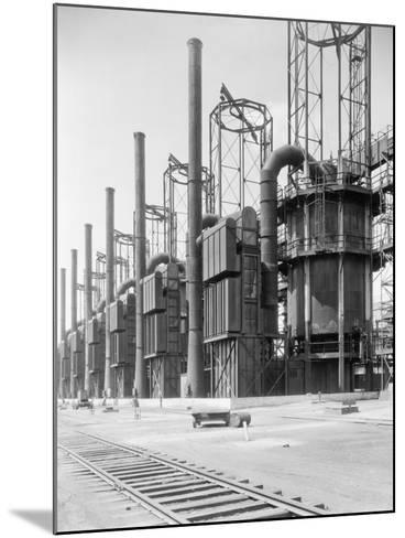 View of Cracking Stills at Oil Refinery--Mounted Photographic Print