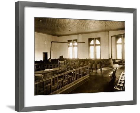 Courtroom Interior--Framed Art Print
