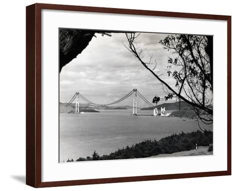 General View of Golden Gate Bridge--Framed Art Print