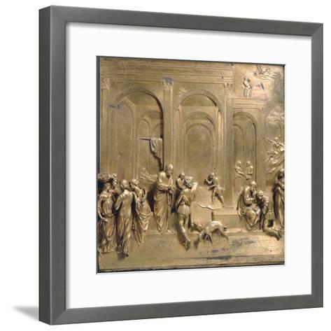 Jacob and Esau from the Gates of Paradise-Lorenzo Ghiberti-Framed Art Print