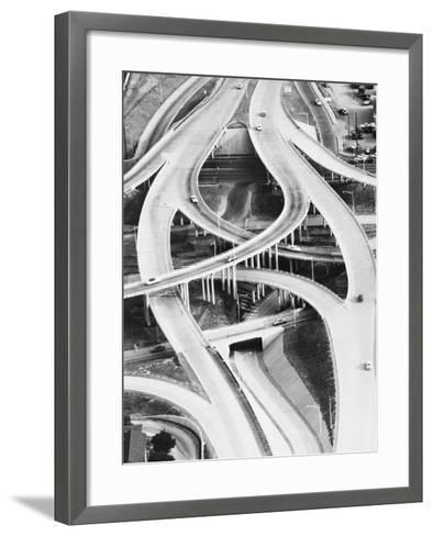 Four-Level Interchange at Turnpike-Philip Gendreau-Framed Art Print