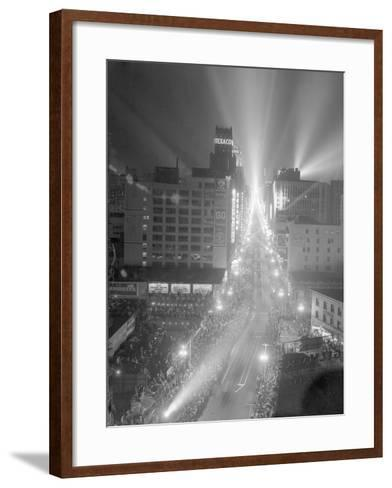 Boulder Dam Power Celebrated in Los Angeles--Framed Art Print