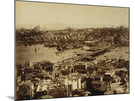 Aerial View of a Bridge over the Bosporus in Istanbul--Mounted Photographic Print