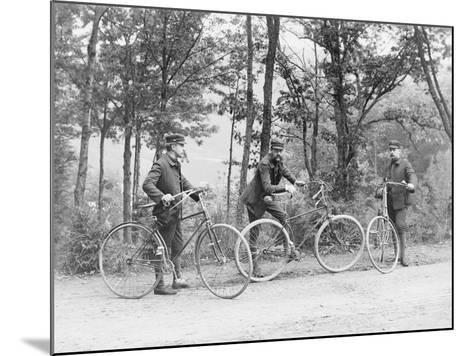 Bicyclists in Central Park--Mounted Photographic Print