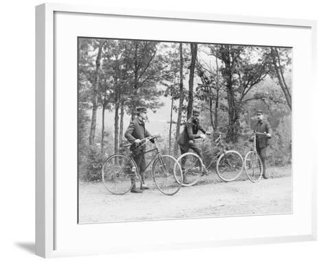 Bicyclists in Central Park--Framed Art Print