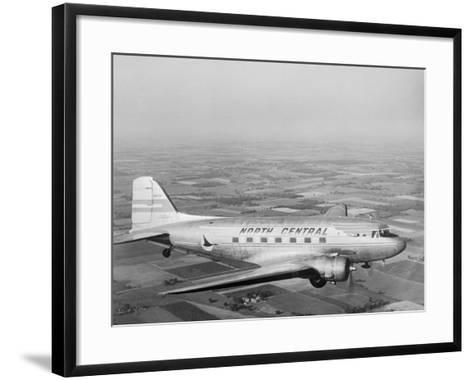 Douglas Dc-3 Plane in Flight--Framed Art Print