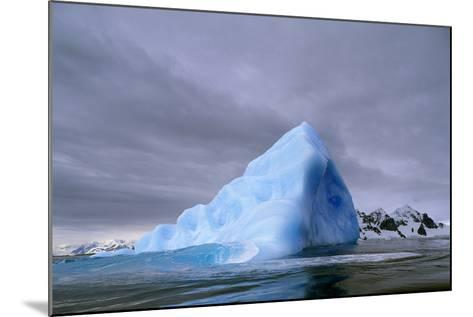 Iceberg at Entrance to Lemaire Channel in Antarctica--Mounted Photographic Print