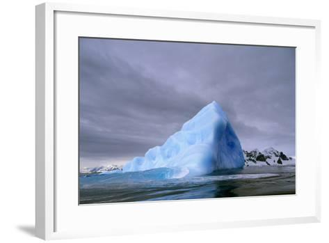 Iceberg at Entrance to Lemaire Channel in Antarctica--Framed Art Print