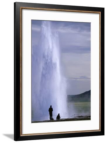 Strokkur Geysir Erupting-Paul Souders-Framed Art Print