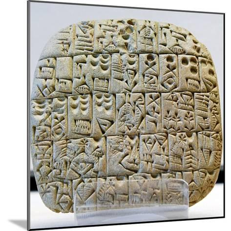 Sumerian Contract Written in Pre-Cuneiform Script--Mounted Photographic Print