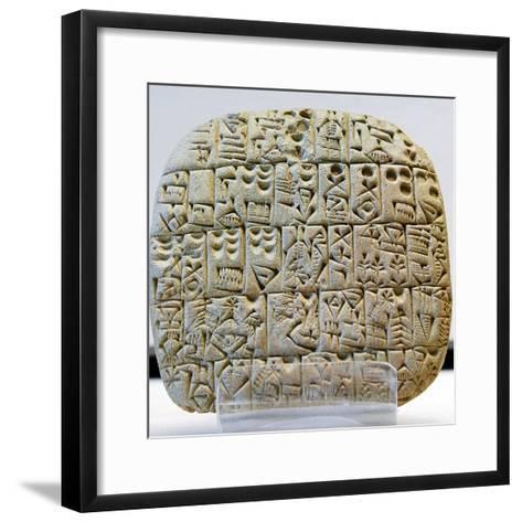 Sumerian Contract Written in Pre-Cuneiform Script--Framed Art Print