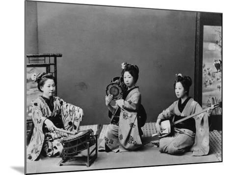 Women Playing Traditional Japanese Instruments--Mounted Photographic Print