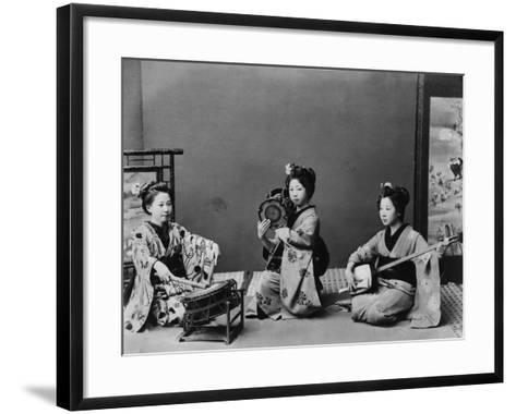 Women Playing Traditional Japanese Instruments--Framed Art Print