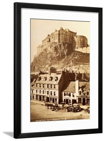 View of Edinburgh Castle from the Grassmarket--Framed Art Print