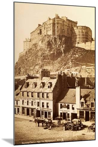 View of Edinburgh Castle from the Grassmarket--Mounted Photographic Print