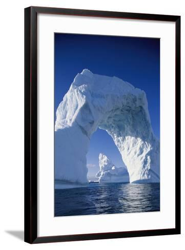 Arch Iceberg Near Lemaire Channel in Antarctica--Framed Art Print