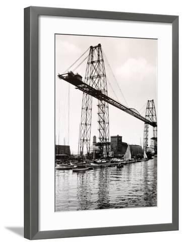 Marseille Transporter Bridge or Pont Transbordeur (C. 1940)--Framed Art Print