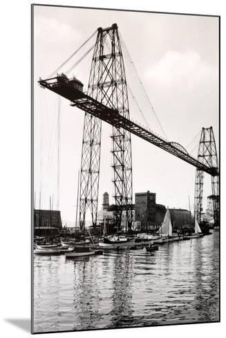 Marseille Transporter Bridge or Pont Transbordeur (C. 1940)--Mounted Photographic Print
