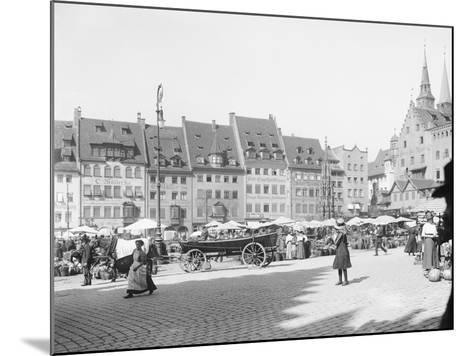 Market Place in Nuremberg--Mounted Photographic Print