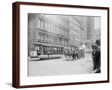 Fire Engine Being Pulled by a Horse--Framed Art Print