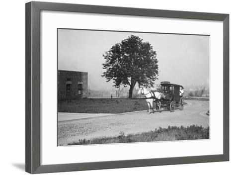 Horse-Drawn Ambulance--Framed Art Print