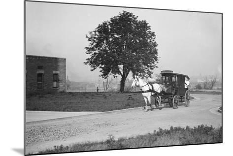 Horse-Drawn Ambulance--Mounted Photographic Print