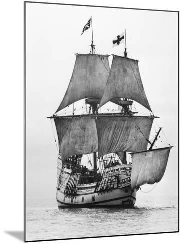 Replica of Mayflower Sailing--Mounted Photographic Print