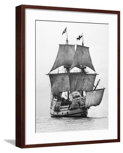 Replica of Mayflower Sailing--Framed Art Print