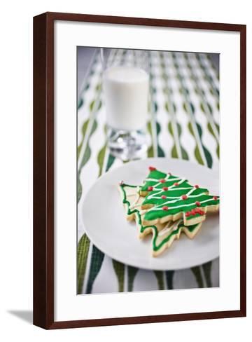 Christmas Cookies and Milk--Framed Art Print