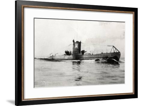 German Type Viia Submarine U-34--Framed Art Print