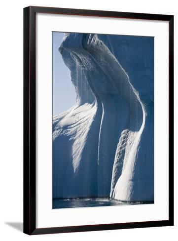 Melting Icebergs in Ililussat--Framed Art Print