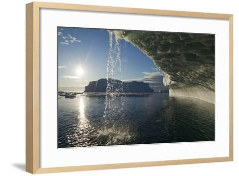 Melting Icebergs in Disko Bay--Framed Art Print