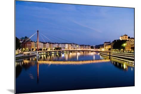 Palais Du Justice Footbridge Reflecting on the Saone-Massimo Borchi-Mounted Photographic Print