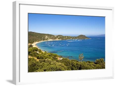 Campomoro Bay on Corsica-Massimo Borchi-Framed Art Print