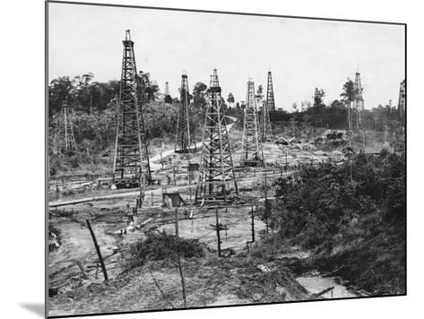 Oil Field in Trinidad--Mounted Photographic Print