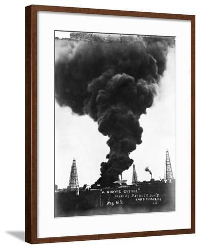Smoke Billowing from an Oil Well Fire--Framed Art Print