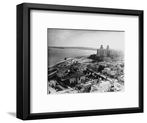 Aerial View of Havana--Framed Art Print