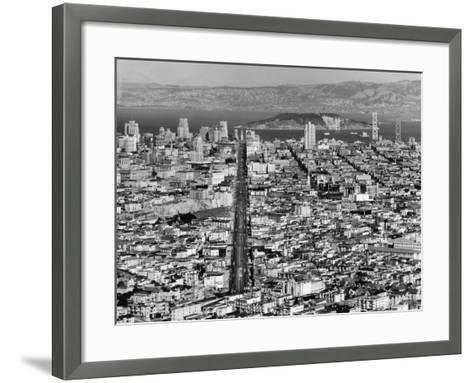 Aerial View of San Francisco--Framed Art Print