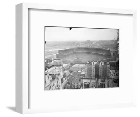 Aerial View of Yankee Stadium--Framed Art Print