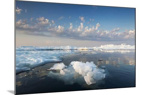 Melting Sea Ice at Sunset, Hudson Bay, Canada-Paul Souders-Mounted Photographic Print