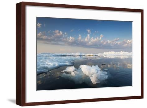 Melting Sea Ice at Sunset, Hudson Bay, Canada-Paul Souders-Framed Art Print